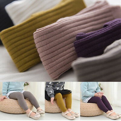 Baby Girl Pantyhose Tights Knit Stockings Candy Color Cotton Warm Cropped -