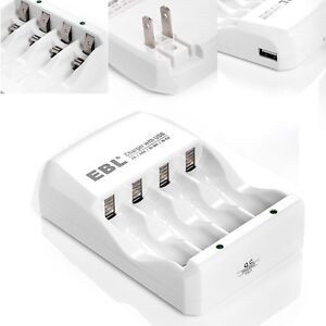For 4pcs AA/AAA Ni-MH Ni-Cd Rechargeable Batteries Charger with USB output
