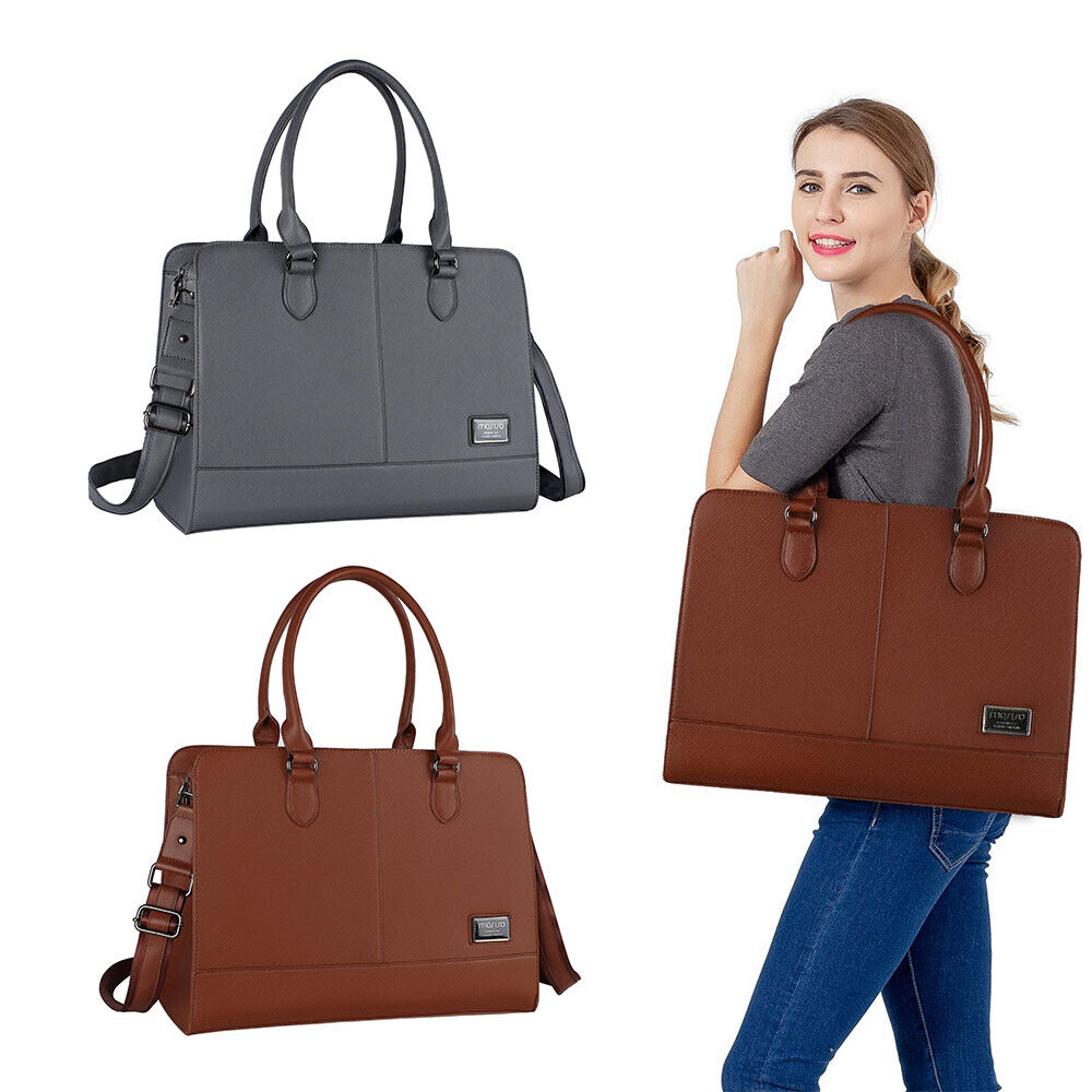 Laptop Tote Bag for Women Girl Premium Leather Work Travel S
