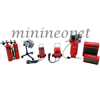 GMP 18940 SUMMIT RACING SHOP TOOLS SET FOR 1/18 DIECAST MODEL CAR RED