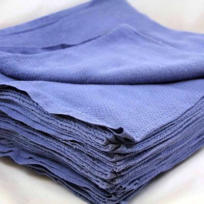 12 100 Cotton New Blue Glass Cleaning Shop Towelhuck Towels Large 16x26 Jumbo