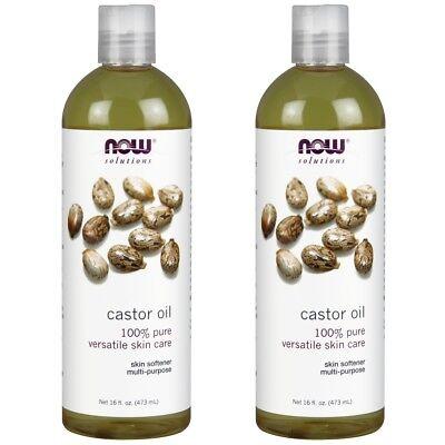 NOW Foods Castor Oil - 16 oz (Pack of 2)