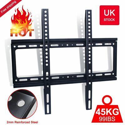 UK STOCK TV Wall Mount Bracket Ultra Slim Flat Plasma LCD LED 32''-55'' inch