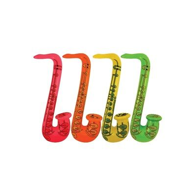 Inflatable Saxophone 55cm Blow Up Fancy Dress Party Musical Music Instrument (Blow Up Saxophone)