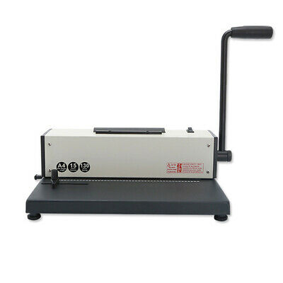 110v Desk Calendar Notebook Maker Plastic Spiral Coil Binding Machine 41 46hole