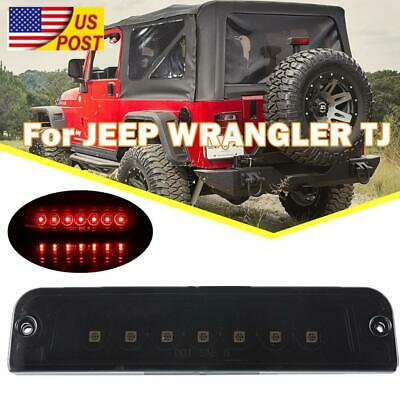 Smoked Lens Rear Third 3rd Tail Brake Light For 1997-2006 Jeep Wrangler TJ New  ()