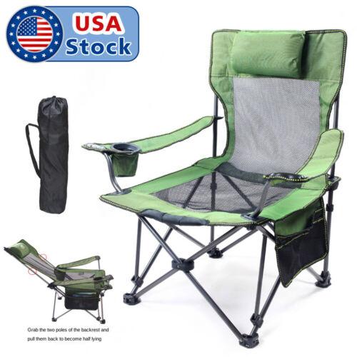 330lbs Heavy Duty Portable Folding Camping Chair Outdoor Fishing Picnic Rocker