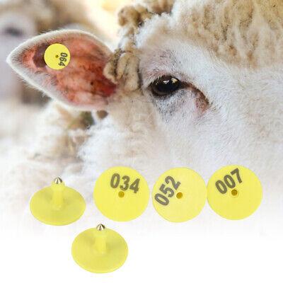 100pcs Cow Sheep Ear Label Fixator Set Livestock Pig Goat Ear Tag Marker