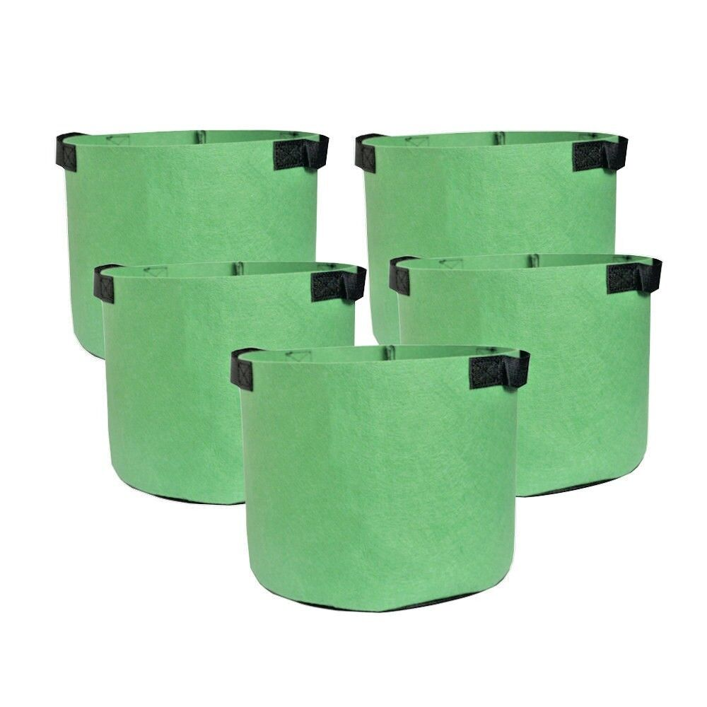 5 pack green grow bags aeration fabric