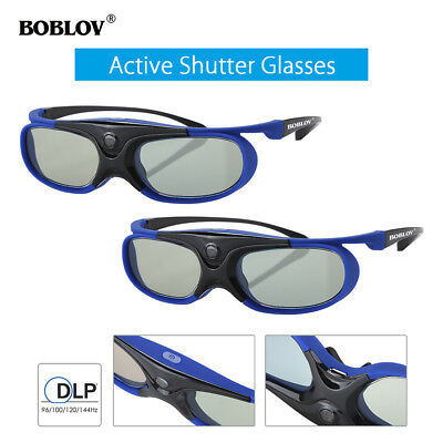 2x JX-30 3D Active Shutter Glasses DLP-Link 96Hz/144Hz Blue For BenQ Acer Sony!