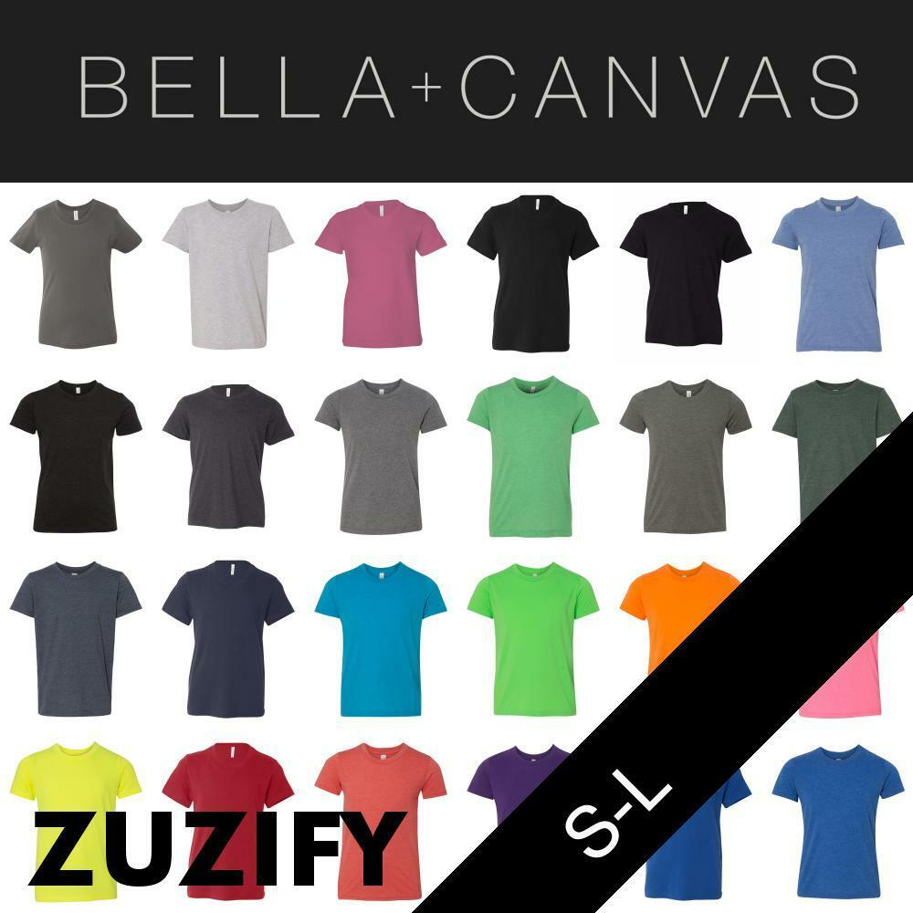 Bella + Canvas Youth Short Sleeve Jersey Crewneck T-Shirt. 3