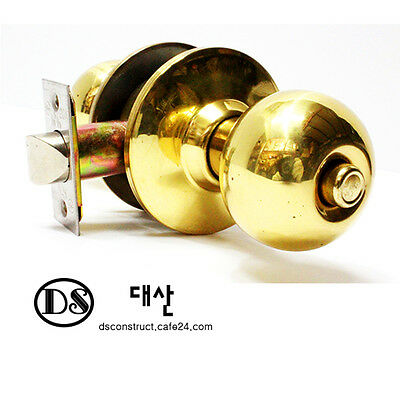 Rounded Lever Door Handle Knob Iron-made with Key Lock Junghwa 5000 serise 1-1-2 ()