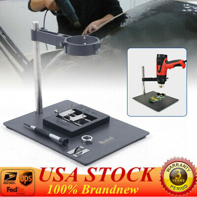Fits Heat Gun Clamp Fixture Bracket Steel Holder Stand Soldering Repair Platform