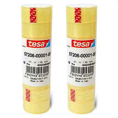 16 Rollen Tesafilm 19mm x 10m Klebefilm Klebestreifen Klebeband Tesa 57206