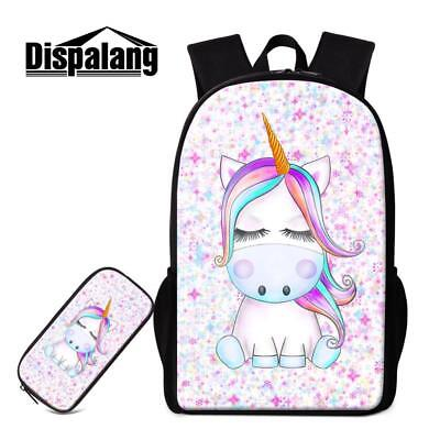 0c39991a870e Unicorn Backpack With Pencil Case Girls School Bag And Pencilcase Set