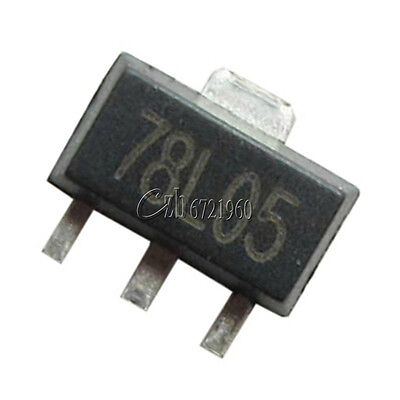 50pcs 78l05 L78l05 7805 Voltage Regulator 5v 100ma Sot-89 Smd
