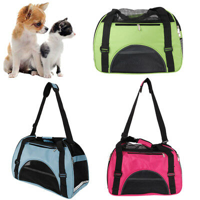 - Pet Carrier Soft Sided Cat Dog Comfort Travel Tote Bag Travel Approved