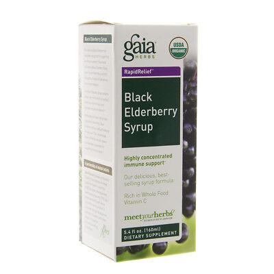 Gaia Herbs Black Elderberry Syrup   5 4 Oz