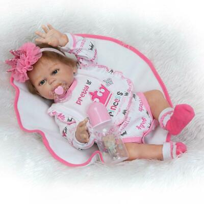"20"" Girl Lifelike Reborn Baby Doll Washable Full Body Silicone Vinyl Dolls Gift"