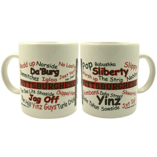 MUG PITTSBURGHESE RED/BLACK