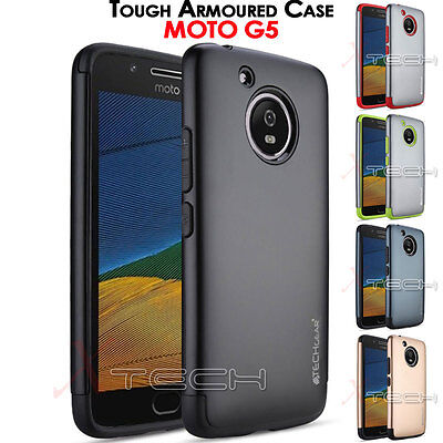 Motorola Moto G5 TOUGH ARMOURED Slim Fit Shock Proof Hard Protective Case Cover