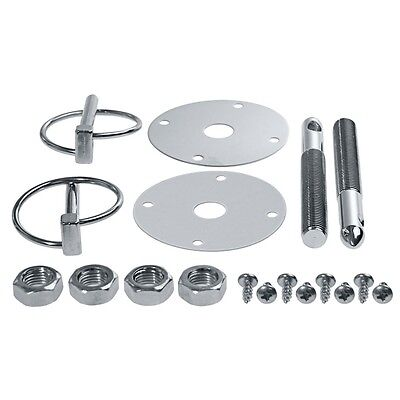 Silver Hood Pin Kit Flip Over Style for all Dodge Cars and Trucks FREE SHIPPING