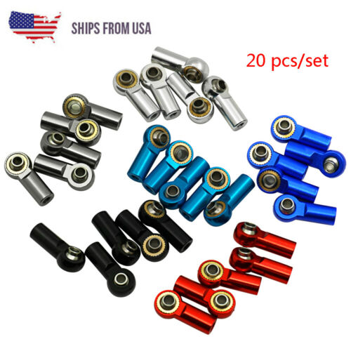 Car Parts - US STOCK 20pcs M3 Link Rod End Ball Joint Head For 1/10 RC Crawler Car Parts