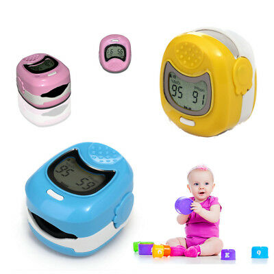 Kids Use Childpediatric Finger Pulse Oximeter Spo2 Pr Blood Oxygen Cms50qa Lcd