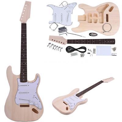 DIY Electric Guitar Basswood Body Rosewood Fingerboard Kit Set-Durable J1Z2