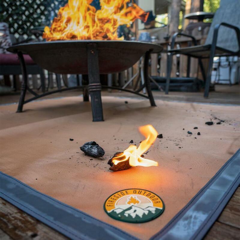 OPEN BOX - Ember Mat | Fire Pit & BBQ Protective Lawn, Patio, & Deck Mat