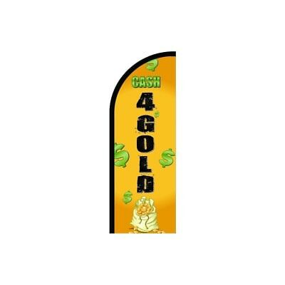Cash For Gold Feather Flag Sign Banner Outdoor Advertising Flag Only