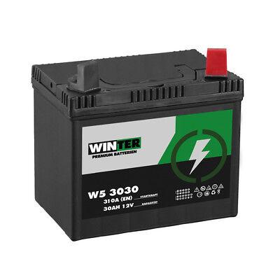 Batterie WINTER Premium 30AH 12V 310A/EN Pol Rechts Rasentraktor Aufsitzmäher John Deere Honda