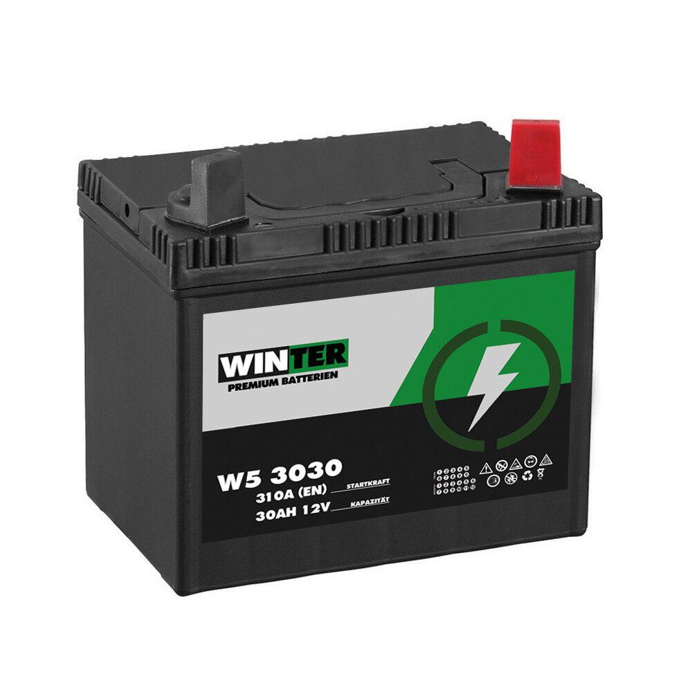 Batterie WINTER Premium 30AH 12V 310A/EN Pol Rechts Rasentraktor Aufsitzmäher