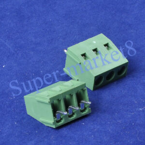 20pcs-3-Poles-Pin-Terminal-Block-PCB-Panel-Universal-Screw-5mm-Pitch-Socket