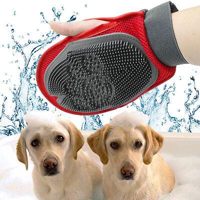 Dog Long&Short Hair Remove and Bath Mitt Glove Brush Sponge Massaging Tool UK
