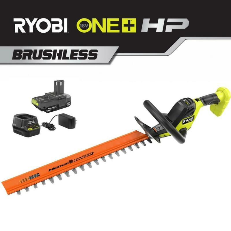 RYOBI ONE+ 22 in. HP 18-Volt Brushless Lithium-Ion Cordless Hedge Trimmer - 2.0