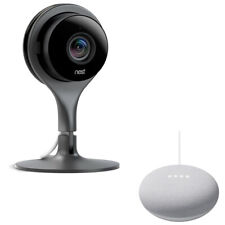 Google Nest Cam Indoor Security Camera + Google Home Mini Speaker Bundle