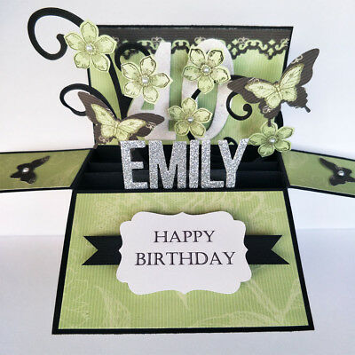 Handmade Birthday card, Retirement card,Anniversary card Name Personalized