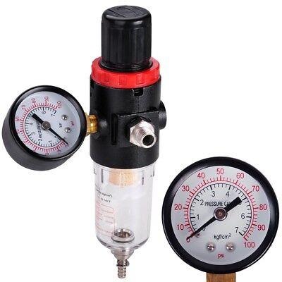 Mini Pressure Regulator Air Airbrush Filter W100psi Air Gauge Water Trap Filter