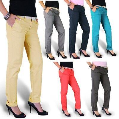 Surplus Damen Chino Hose 6 Farben Stoffhose Ladies Pants Business Hüft Jeans Surplus Chino Hose