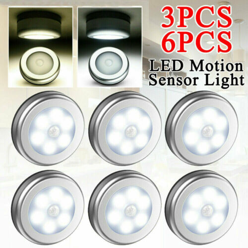 LED Nachtlicht mit Bewegungsmelder Nachtleuchte Sensor Lampe Batteriebetrieben