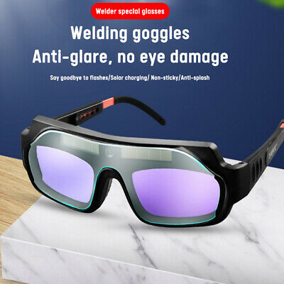 Automatic Solar Powered Welding Glasses Auto Darkening Eyes Protection Goggles