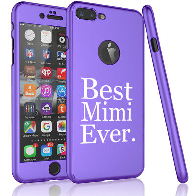 For iPhone 360° Thin Slim Case Cover +Tempered Glass Screen Best Mimi