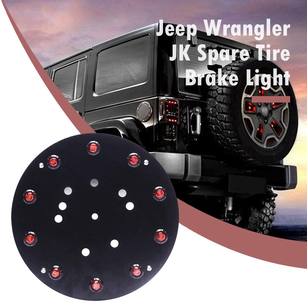 Details About For 07 17 Jeep Wrangler Jk Led 3rd Brake Wheel Light Replacement Rear Spare Tire