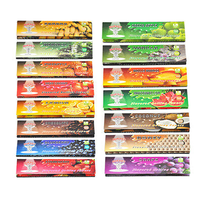 Flavored Papers - 5 Fruit 250 Leaves Flavored Smoking Cigarette Hemp Tobacco Rolling Papers