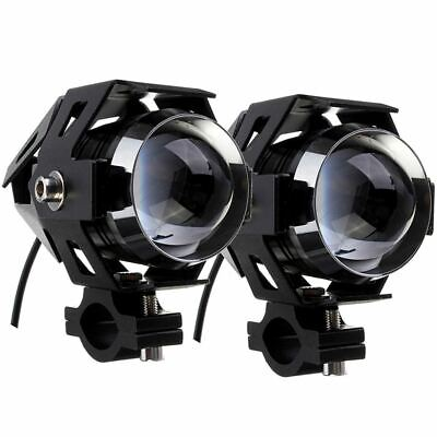 COUPLE BLACK SPOT LIGHTS BLACK LED CREE 15W TRIUMPH TIGER XC EXPLORER