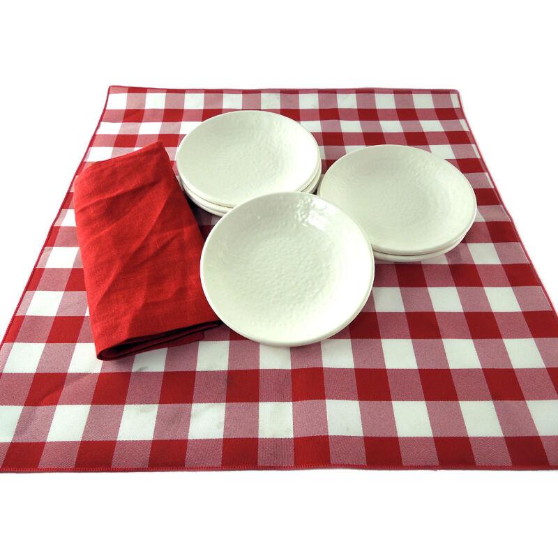 """Textured Heavyweight 6.25"""" Melamine Restaurant Dessert Plates CASE OF 72"""