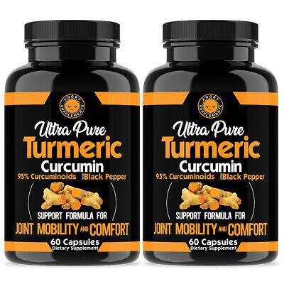 Ultra Pure Turmeric Curcumin 95% w  Black Pepper Anti Inflam