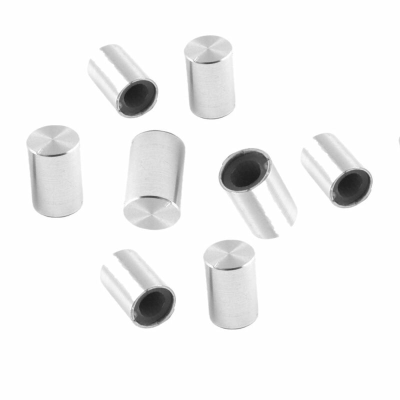8pc 10*15mm 6mm Dia Knurled Shaft Aluminum Volume Control Potentiometer Knobs