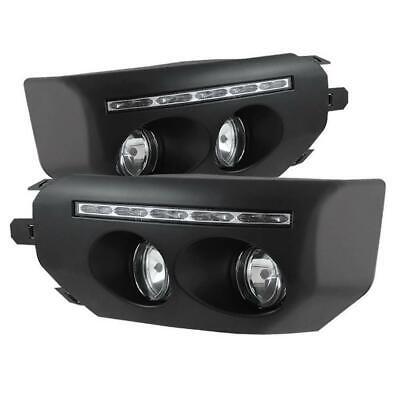 For 2007-2014 Toyota FJ Cruiser Black LED Front Fog Lights Driving Lamps+Switch